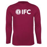 Performance Maroon Longsleeve Shirt-IFC