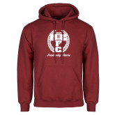 Cardinal Fleece Hoodie-Personalized Fraternity Name Script