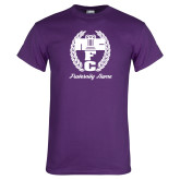 Purple T Shirt-Personalized Fraternity Name Script