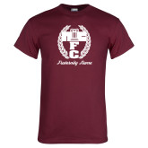 Maroon T Shirt-Personalized Fraternity Name Script