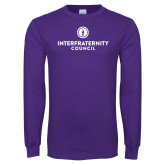 Purple Long Sleeve T Shirt-Primary Logo Centered