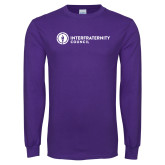 Purple Long Sleeve T Shirt-Primary Logo Left
