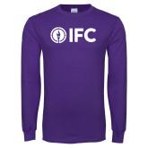Purple Long Sleeve T Shirt-IFC