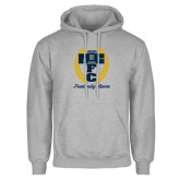 Grey Fleece Hoodie-Personalized Fraternity Name Script