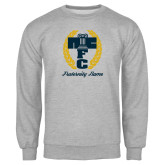 Grey Fleece Crew-Personalized Fraternity Name Script