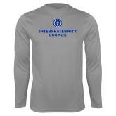 Performance Steel Longsleeve Shirt-Primary Logo Centered