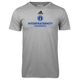 Adidas Climalite Sport Grey Ultimate Performance Tee-Primary Logo Centered