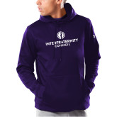 Under Armour Purple Armour Fleece Hoodie-Primary Logo Centered