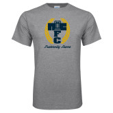 Grey T Shirt-Personalized Fraternity Name Script