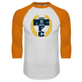 White/Orange Raglan Baseball T Shirt-NICFC