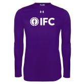 Under Armour Purple Long Sleeve Tech Tee-IFC
