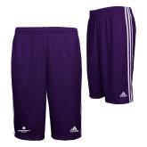 Adidas Climalite Purple Practice Short-Primary Logo Centered