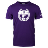 Adidas Purple Logo T Shirt-NICFC