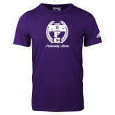 Adidas Purple Logo T Shirt-Personalized Fraternity Name Script