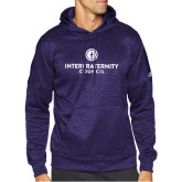 Adidas Purple Team Issue Hoodie-Primary Logo Centered