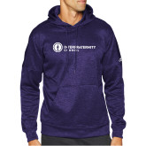 Adidas Purple Team Issue Hoodie-Primary Logo Left