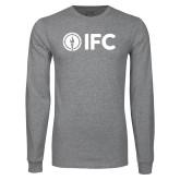 Grey Long Sleeve T Shirt-IFC