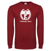 Cardinal Long Sleeve T Shirt-Personalized Fraternity Name Script