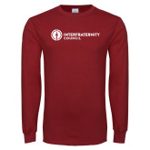 Cardinal Long Sleeve T Shirt-Primary Logo Left