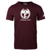 Adidas Maroon Logo T Shirt-Personalized Fraternity Name Script