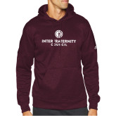 Adidas Maroon Team Issue Hoodie-Primary Logo Centered