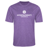 Performance Purple Heather Contender Tee-Primary Logo Centered