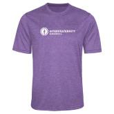 Performance Purple Heather Contender Tee-Primary Logo Left