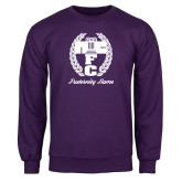 Purple Fleece Crew-Personalized Fraternity Name Script
