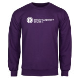 Purple Fleece Crew-Primary Logo Left