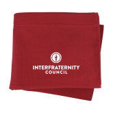 Cardinal Sweatshirt Blanket-Primary Logo Centered
