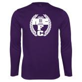 Performance Purple Longsleeve Shirt-NICFC