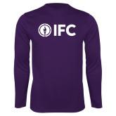 Performance Purple Longsleeve Shirt-IFC