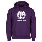 Purple Fleece Hoodie-Personalized Fraternity Name Script