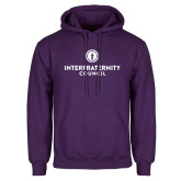 Purple Fleece Hoodie-Primary Logo Centered