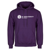 Purple Fleece Hoodie-Primary Logo Left