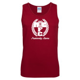 Cardinal Tank Top-Personalized Fraternity Name Script