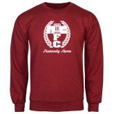 Cardinal Fleece Crew-Personalized Fraternity Name Script
