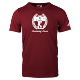 Adidas Cardinal Logo T Shirt-Personalized Fraternity Name Script
