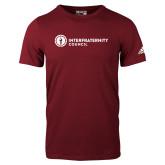 Adidas Cardinal Logo T Shirt-Primary Logo Left