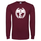 Maroon Long Sleeve T Shirt-NICFC