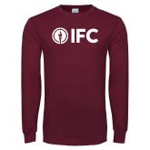 Maroon Long Sleeve T Shirt-IFC