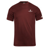 Russell Core Performance Maroon Tee-Primary Logo Centered