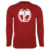 Performance Cardinal Longsleeve Shirt-NICFC