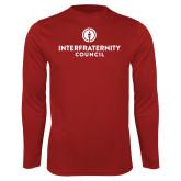 Performance Cardinal Longsleeve Shirt-Primary Logo Centered
