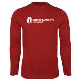 Performance Cardinal Longsleeve Shirt-Primary Logo Left