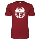 Next Level SoftStyle Cardinal T Shirt-NICFC