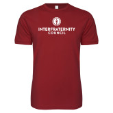 Next Level SoftStyle Cardinal T Shirt-Primary Logo Centered