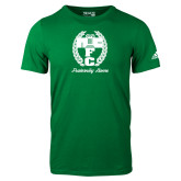 Adidas Kelly Green Logo T Shirt-Personalized Fraternity Name Script