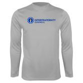 Performance Platinum Longsleeve Shirt-Primary Logo Left