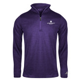 Russell Purple Heather 1/4 Zip-Primary Logo Centered